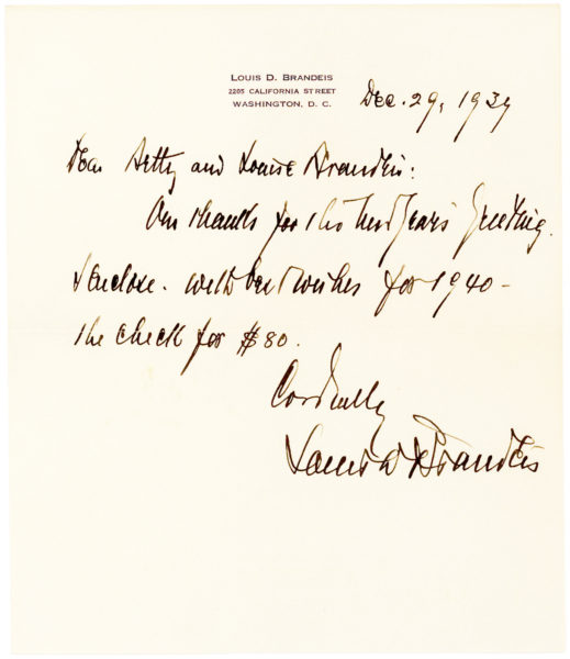 Autograph Letter Signed by the Supreme Court Justice about His Good Friends, Playwright Garson Kanin and Justice Learned Hand