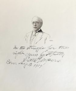 37560Original Drawing of the American Labor Leader with an Excellent Quotation