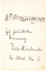 A Rare Autograph Musical Quotation