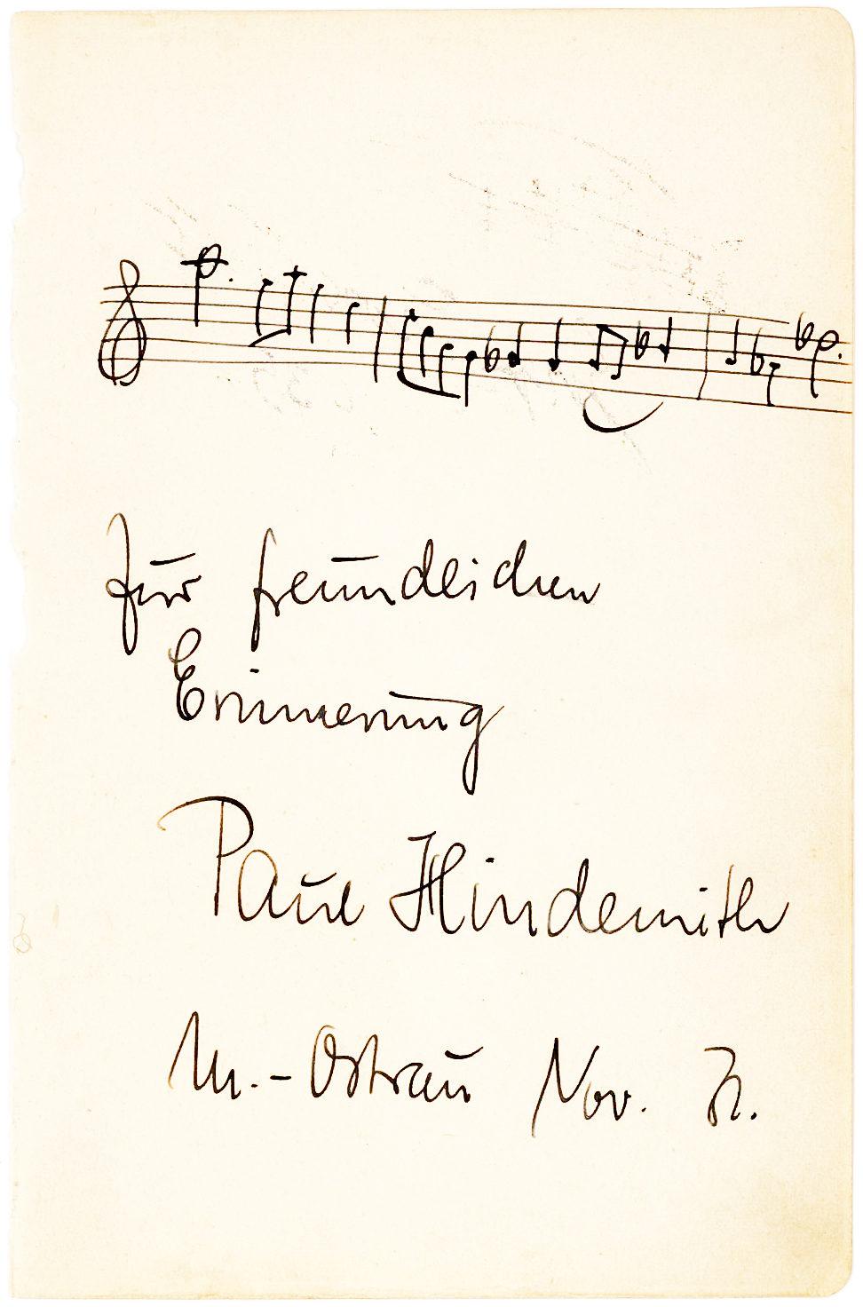 A Rare Autograph Musical Quotation