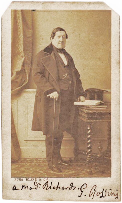 Full-Length Signed CDV of the Composer of the William Tell Overture