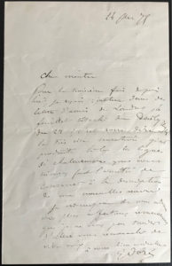 38017Autograph Letter by the French Woodcut Artist