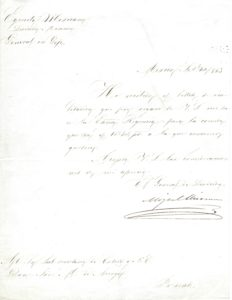 37921Former Mexican President Agrees to Attend Independence Day Celebrations Hosted by the Regency of the Mexican Empire on September 16, 1863