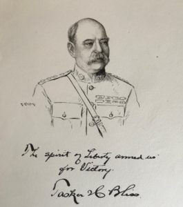 38217Original Signed Drawing with a Quotation from the U.S. Army's WWI Chief of Staff