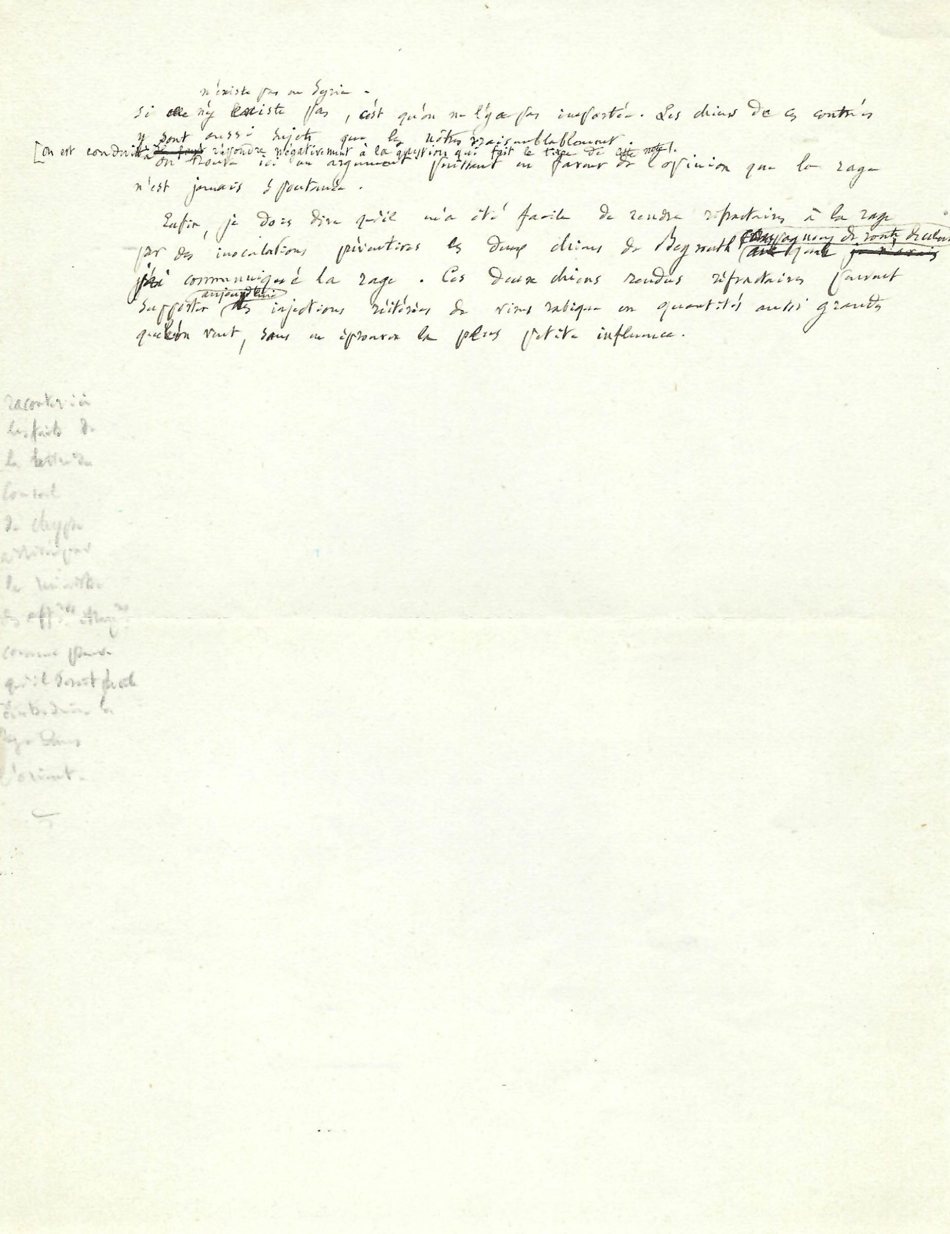 Remarkable Pasteur Manuscript on Rabies Research Eight Months before the First Successful Human Vaccination