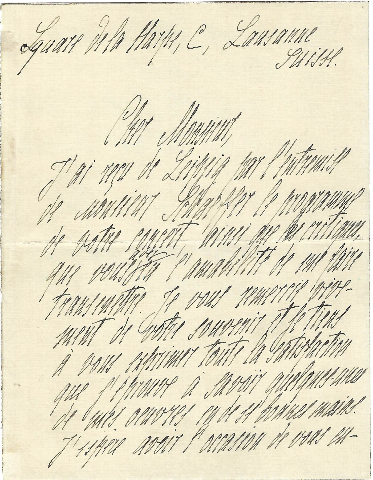 Rare Scriabin ALS written the Year he Completed The Poem of Ecstasy