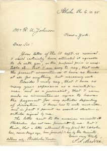 38359Rare Autograph Letter by Swedish Scientist and Balloonist, S.A. Andrée
