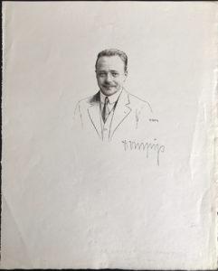 38375Scarce Signed Portrait of Austria's Assassinated Dictator Engelbert Dollfuss