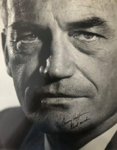 "38482Oversize Philippe Halsman Photograph Signed by ""Mr. Conservative,"" Senator Barry Goldwater"