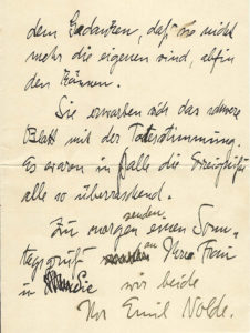 "38393Early & Important Autograph Letter by Nolde, Branded a ""Degenerate"" Artist by the Nazis"