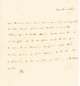 38423Rare Autograph Letter by one of the Great French Beauties and Wits of the 19th Century
