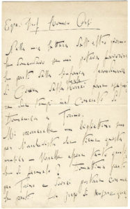 The Earliest Toscanini Letter to be Offered at Auction in at Least 50 Years