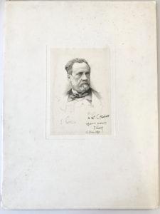 38522Oversize & Stunning Pasteur Original Signed Steel Engraved Portrait