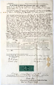 38829Signed Document Selling Connecticut Property to Wealthy Hotchkiss Family