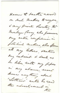 """Disraeli Dispels Rumors about a New Novel: """"I contemplate publishing nothing at present and were I writing anything, it could only be known to myself…I make it a rule never to breathe a word on such matters…"""""""