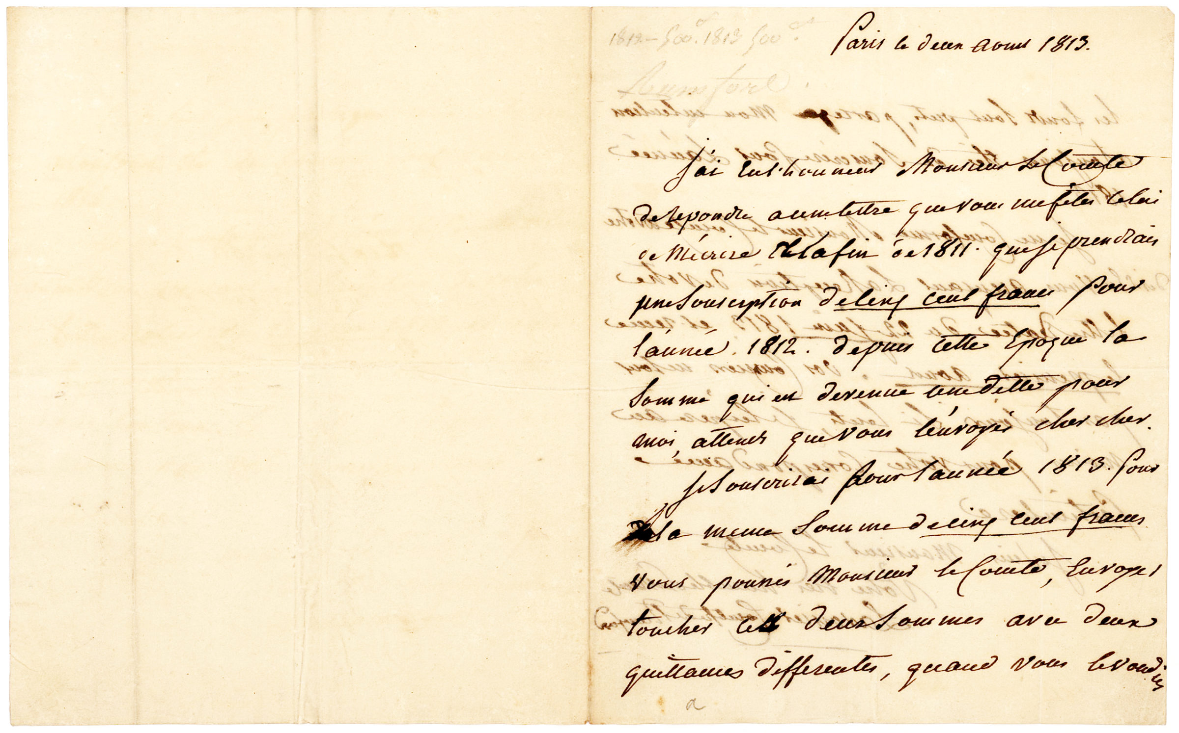 Rare ALS by the Pioneering Female French Chemist and Widow of Antoine Lavoisier