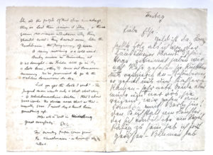 38878Unusual and Rare D.H. Lawrence and Frieda Lawrence Letter from Germany