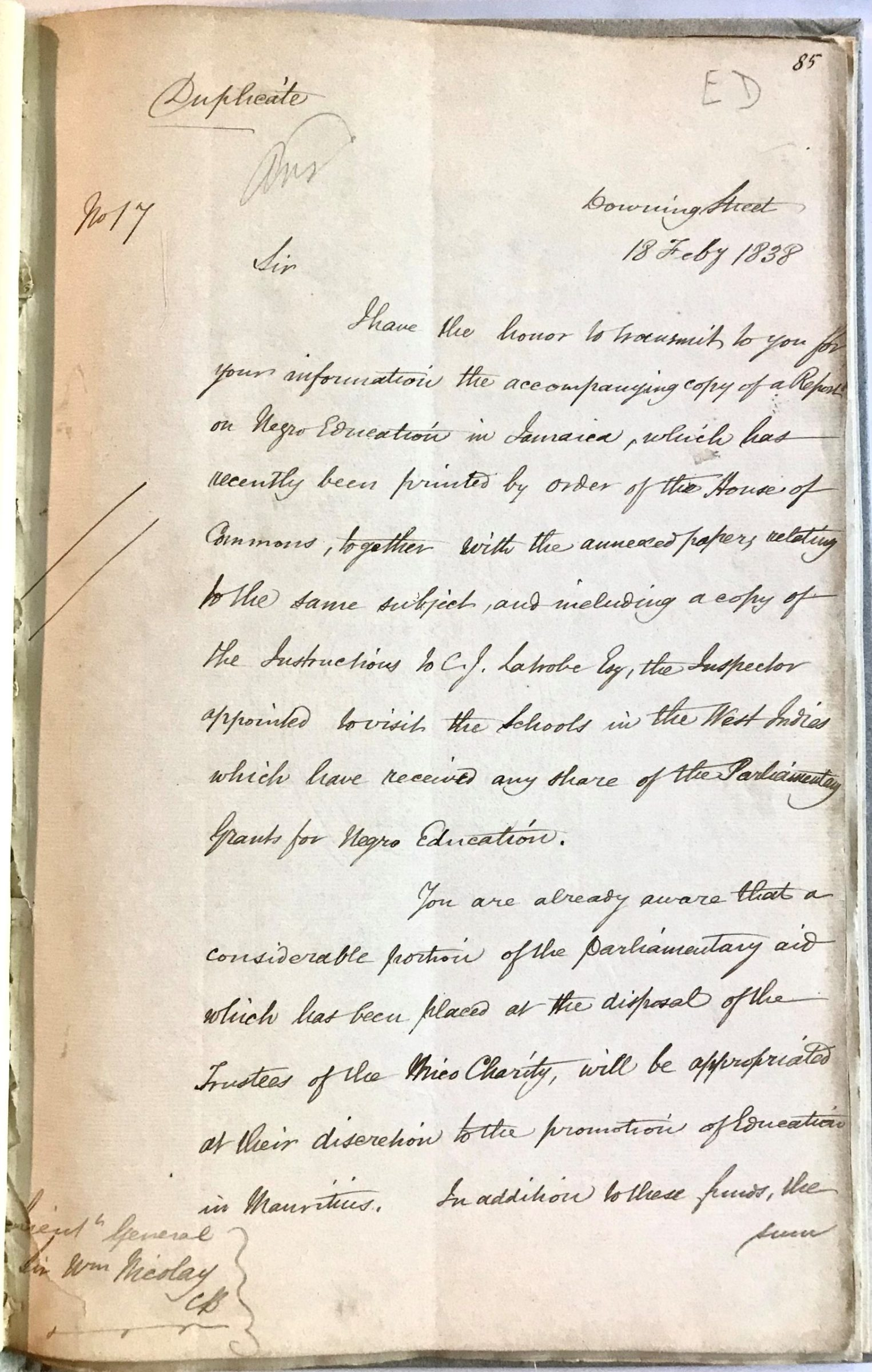 """Archive of Official British Directives Detailing the End of Slavery and the """"Apprenticeship"""" System in the British West Indies"""